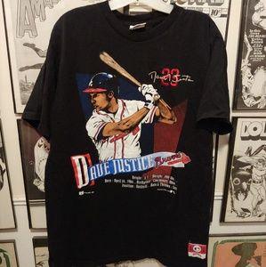 Vintage 1992 Atlanta Braves Dave Justice Shirt